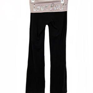 Victoria's Secret PINK Bling Fold Over Yoga Pants